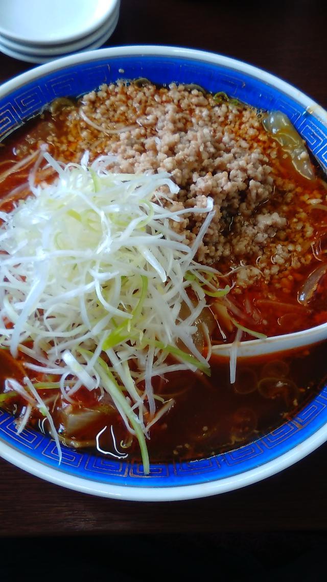 画像: ▲上担々麺(850円)。