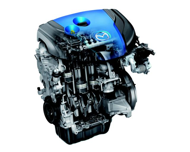 画像: ▲マツダのディーゼル技術、スカイアクティブD。従来比約20%の燃費改善を果たした。マツダ好調の理由は、このスカイアクティブDの技術も大きい。