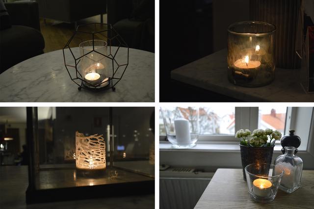 画像: ホテルやレストランで発見したロウソクの灯り。