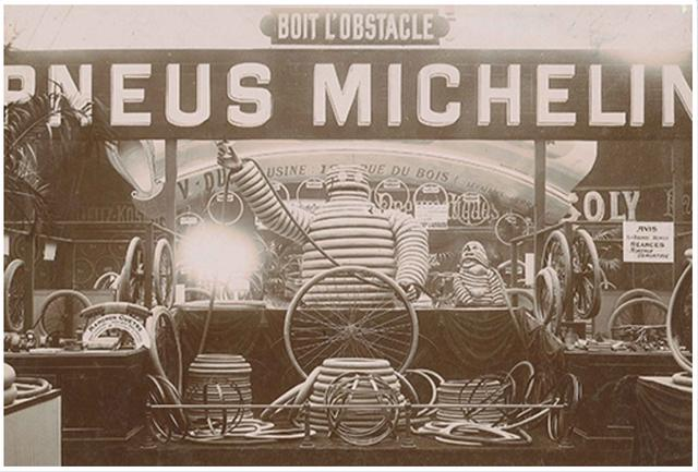 画像: Stand-Michelin-au-Salon-du-Cycle-de-1898_history (c)Michelin