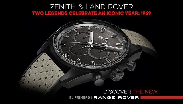 画像: Zenith & Land Rover - Two legends celebrate an iconic year: 1969