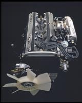 画像: ▲初代ソアラにも搭載されていた 2.8Lの直6DOHC、5M-GEU型は170psを発生した。