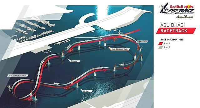 画像: アブダビのコースは千葉と同じように海上に設営される。同じコースを2周してタイムを競う。