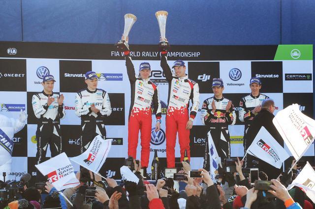 画像: 【速報】ヤリスWRCでラトバラ選手がラリースウェーデン優勝。トヨタにとって18年ぶりのWRC勝利