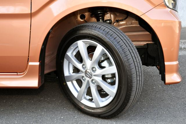 画像: 試乗車のタイヤは155/65R14サイズのブリヂストン・エコピアEP150。