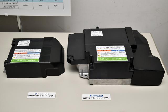画像: 左が先代ワゴンR搭載のリチウムイオンバッテリー、右が新型ワゴンRのリチウムイオンバッテリー。