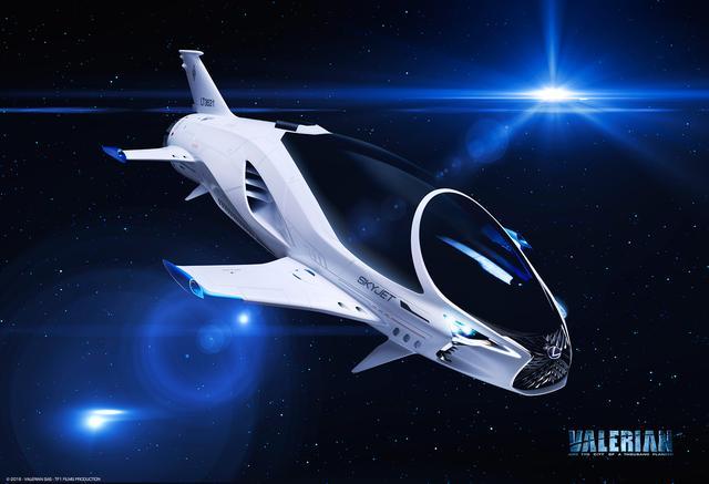 """画像: スピンドルグリルなどレクサスのデザイン要素を取り込んでデザインされた """" SKYJET """"。"""