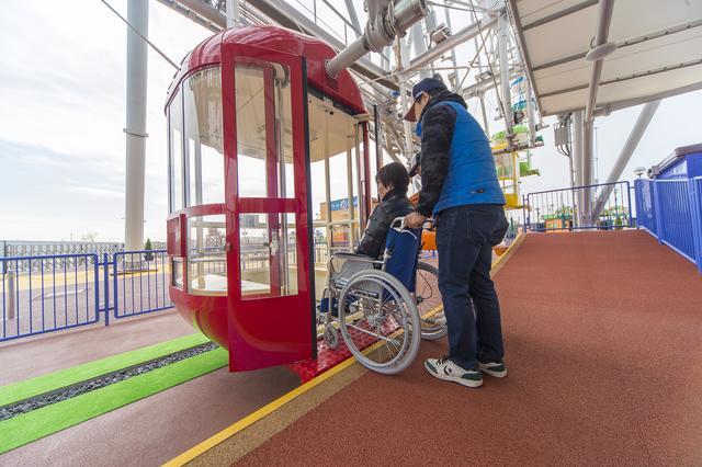 画像: すべてのゴンドラで、車いすのまま乗ることができる。