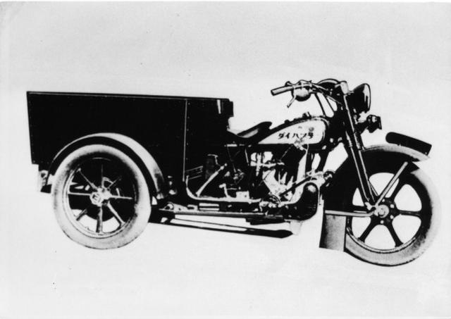 画像: ダイハツの原点である、小型三輪車「ダイハツ」号。