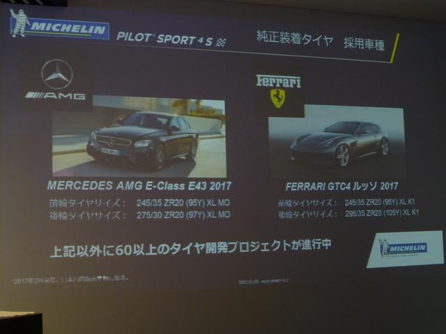 画像: パイロットスポーツ4Sは、すでに2車種に純正採用されている。