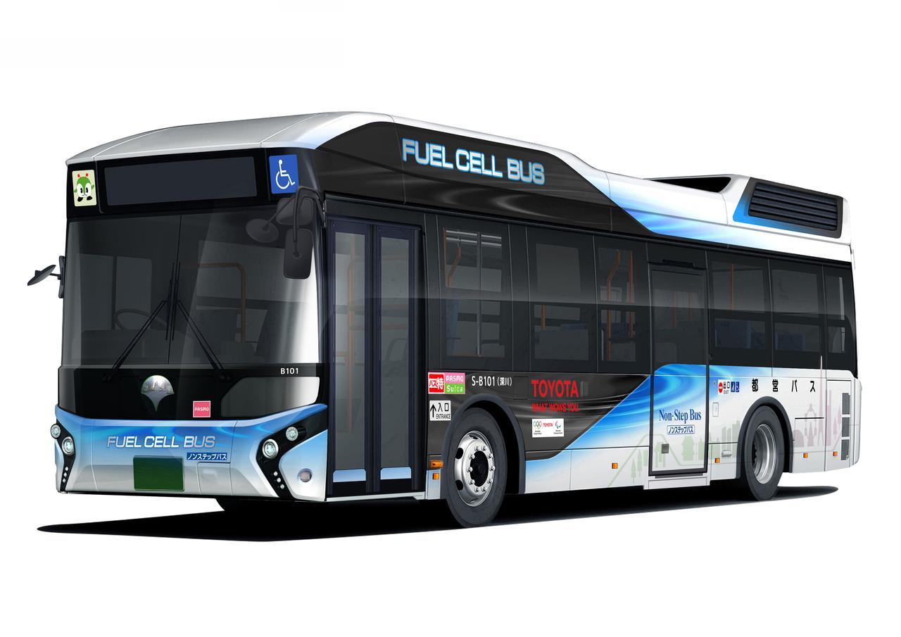 """画像: これが都営バス仕様。""""都営バス"""" の文字や都営バスのキャラクター """"みんくる"""" などがついかされています。"""