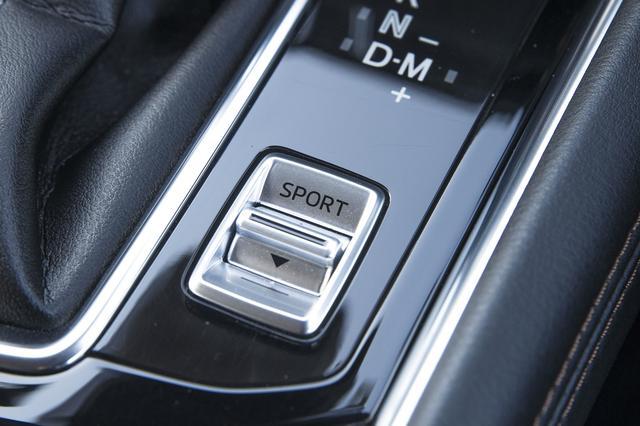 画像: ガソリン車には走行モードを選べるドライブセレクションを装備。