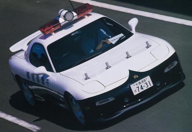 画像: 千葉県警高速隊に納入されたセブン。全国で7台存在していたことが確認されている。