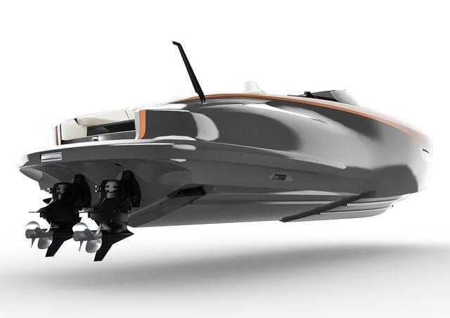 画像: エンジン( 2UR-GSE )は 2基搭載。船底の滑走面は水との摩擦抵抗を軽減するステップハルを採用。