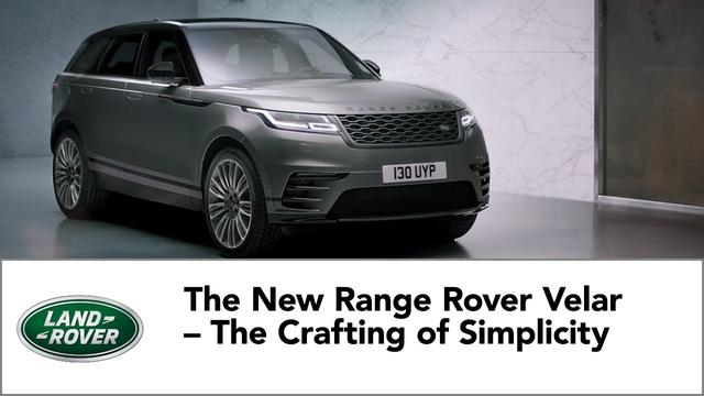 画像: The New Range Rover Velar – The Crafting of Simplicity www.youtube.com