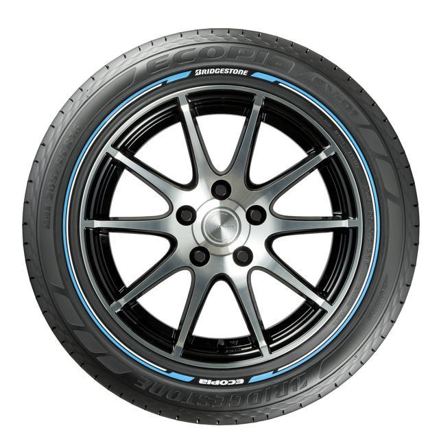 画像: 2013年に発売されたブリヂストンのカラーサイドタイヤ。現在は販売を終了している。
