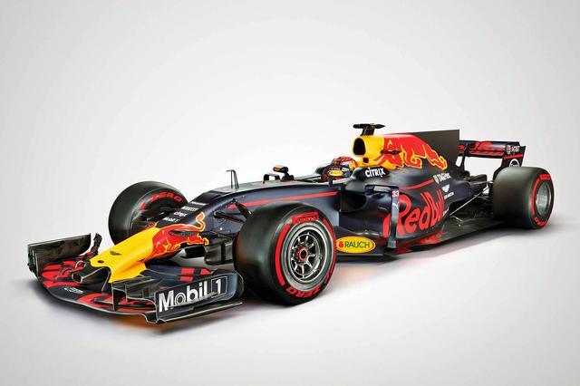画像: 2017シーズンのF1マシン、レッドブルRB13。いまやチーム名がスポンサー企業そのものとなっている。