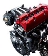 画像: K20A型エンジン。6速MTと組み合わされる。