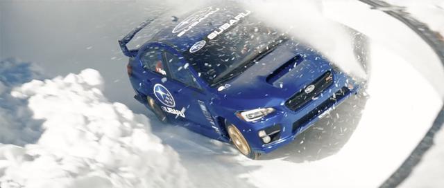 画像: 雪と氷の壁を削りながら疾走するWRX STI。無謀なチャレンジ?