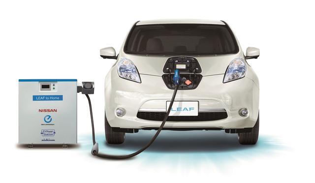 """画像: """"LEAF to Home"""" は、電気代の節約や節電だけでなく、災害時などのバックアップ電源としても活用できます。"""