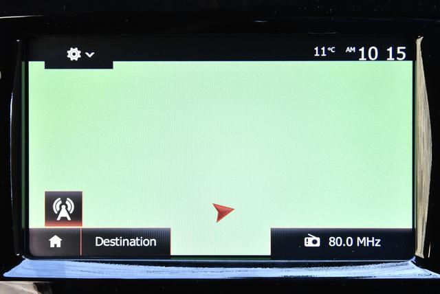 画像: GPSは取れているのだが、地図データがないので白い画面を△印が動くことになってしまう。