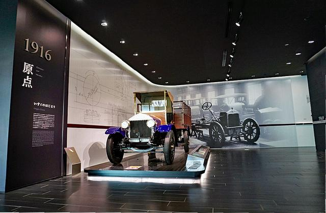画像: いすゞ自動車が作った現存する最古のトラック「ウーズレーCP 型」を展示。