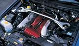 画像: R33比で2.5kgmトルクが増強されたRB26DETT型エンジン(写真はベース車のもの)。
