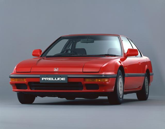 画像: プレリュード2.0XX(当時の車両価格:182万円)。リトラクタブルヘッドライトが当時の流行だった。