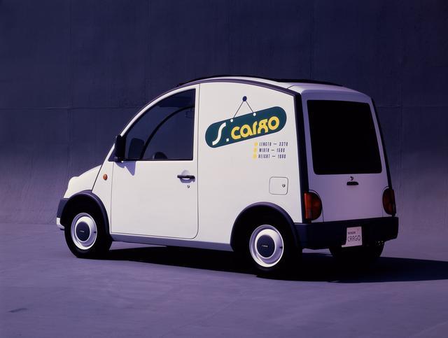 画像: 1989年に登場したエスカルゴ。日産パイクカーのなかで唯一の商用バン。