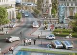 画像: 完全自動運転車が街中を走る近未来