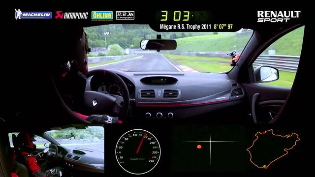 画像: Renault Mégane R.S. 275 Trophy-R Nürburgring Nordschleife lap record (full version) #UNDER8 www.youtube.com