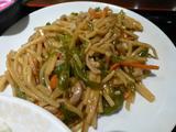 画像: 日替わり定食A:青椒肉絲定食550円。