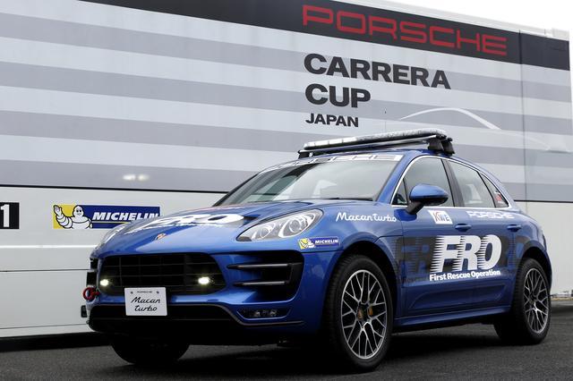 画像: スーパーGTシリーズに配備されたポルシェ マカンターボのファースト・レスキュー・オペレーション車両。