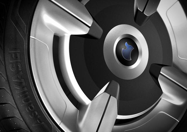 画像: コンセプトカーのタイヤには、「AsahiKASEI」のロゴが…。