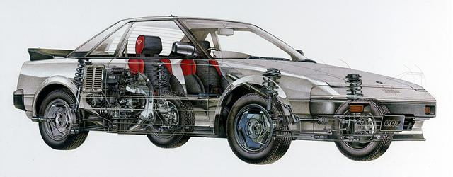 画像: エンジンは4A-G型4バルブDOHCをメイングレードに横置き搭載。