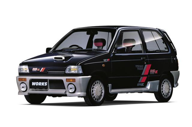 画像: 初代アルト ワークスは1987年に登場。しかし、1988年には2代目にスイッチしており、このモデルは短命でした。