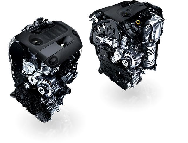 画像: パワーと優れた環境性能を併せ持つクリーンディーゼル2.0L BlueHDi(左)、優れた燃費性能を誇る 1.6L BlueHDi