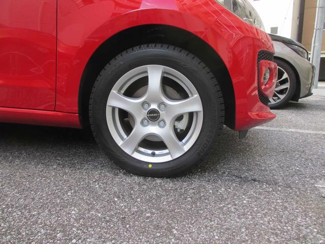 画像: タイヤ&ホイールのセットで交換するので、ムーブ アップ!と同じ14インチ仕様へインチダウンすることも考えてはみたが結局、15インチ仕様とした。イメージが精悍になった。