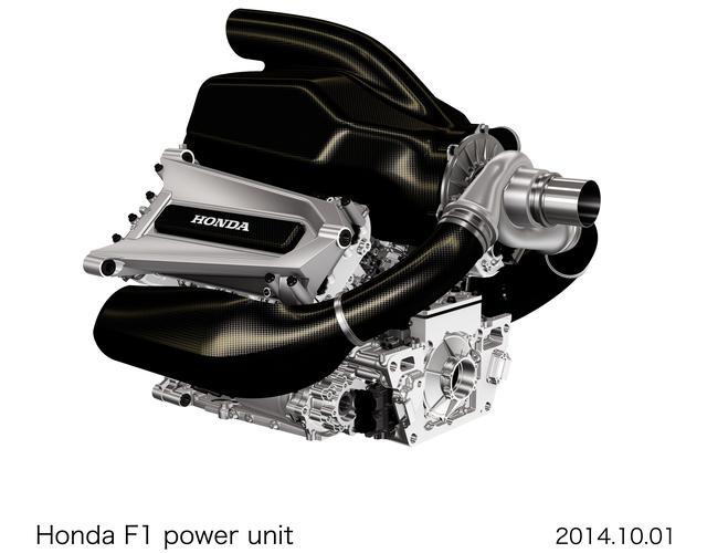 画像: 2014年10月、F1復帰を発表した当時のパワーユニット