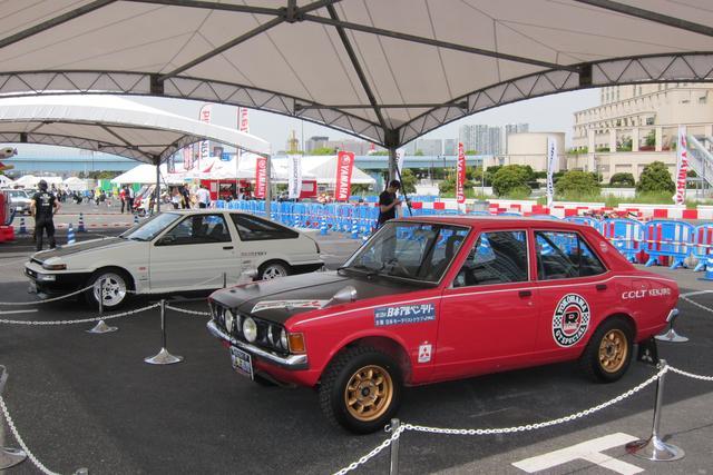 画像: 土屋圭市の愛車AE86トレノと篠塚建次郎の愛車コルトギャラン。