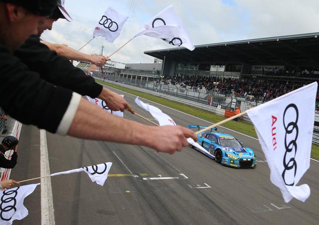画像: これは2016年、前回のニュルブルクリンク24時間レースの画像。この年、アウディは9台のR8 LMSをエントリーさせている。