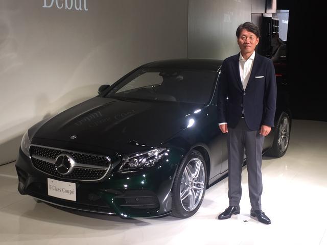 画像: 発表会で登壇したメルセデス・ベンツ日本の上野金太郎社長。今年も販売好調で笑顔がこぼれる。