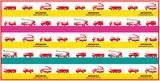 画像: はしご車、ポンプ車、救助工作車、大型高所放水車、空港用化学車、多機能型消防車 REDSEAGULLの 6車種のイラストが描かれている。