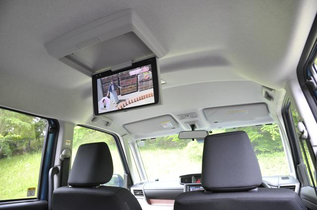 画像: 12.1型後席ディスプレイはオプション設定。