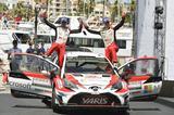 画像: 2位に入ったヤリ-マティ・ラトバラ(右)/ミーカ・アンティラ組(ヤリスWRC #10号車 )