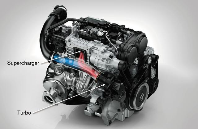 画像: T6搭載の2Lツインチャージ(ターボ+スーパーチャージャー)ガソリンエンジン。