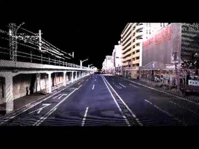 画像: モービルマッピングシステムのデモ動画(MMS 三菱モービルマッピングシステム) 画像は、三菱電機株式会社が開発した計測装置「MMS-X320R」によって集められた、横浜市桜木町付近のマップデータだ。 www.youtube.com