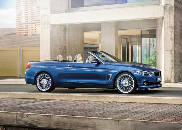 画像: BMWアルピナ B4 ビターボ カブリオ。クーペも用意されている。