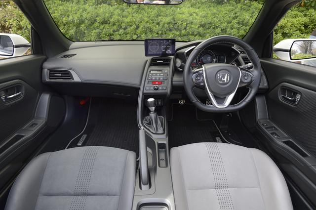 画像: S660 インパネ 操作系がすべてドライバー方向に向く運転者オリエンテッドなインパネ。