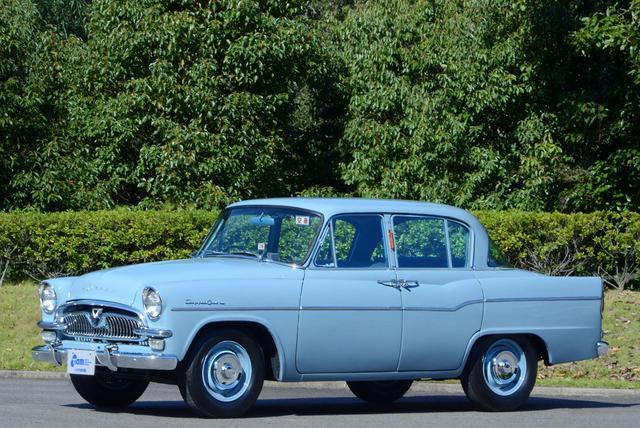 画像: トヨペット クラウンRS20(1959年 日本)。オーナーカーとして発売され、タクシーとしても活躍。